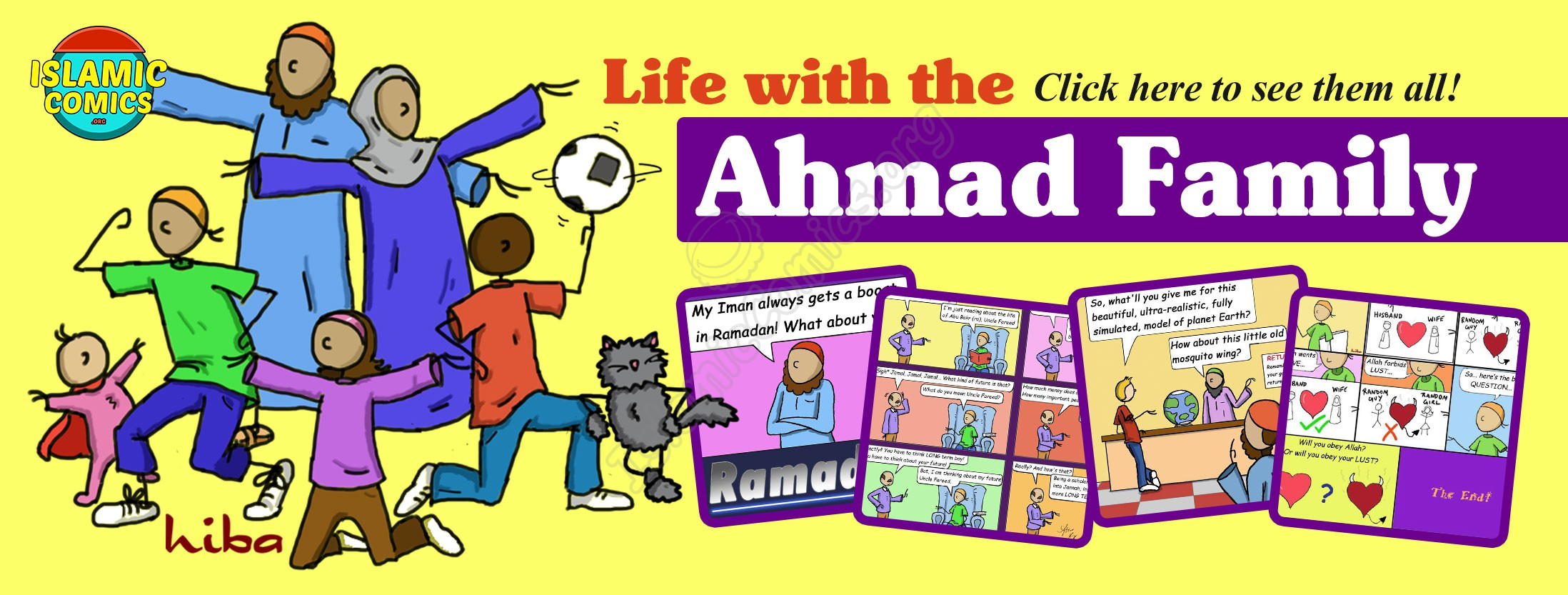Life with the Ahmad Family Comics by Hiba Magazine - Islamic Comics