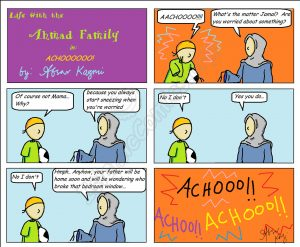A hilarious Islamic Comic that Mom always knows!