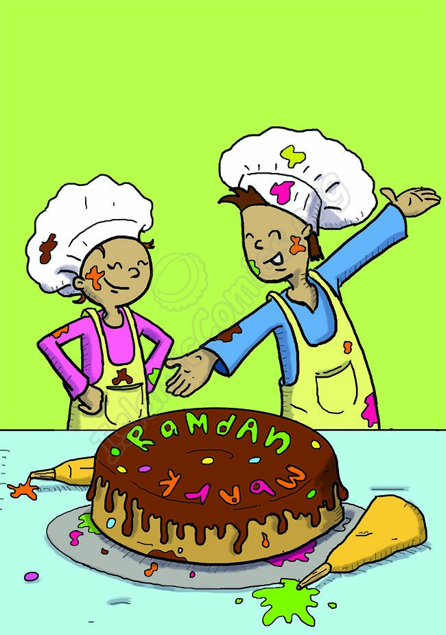 Have you ever made a Ramadan Cake? (Islamic Illustrations