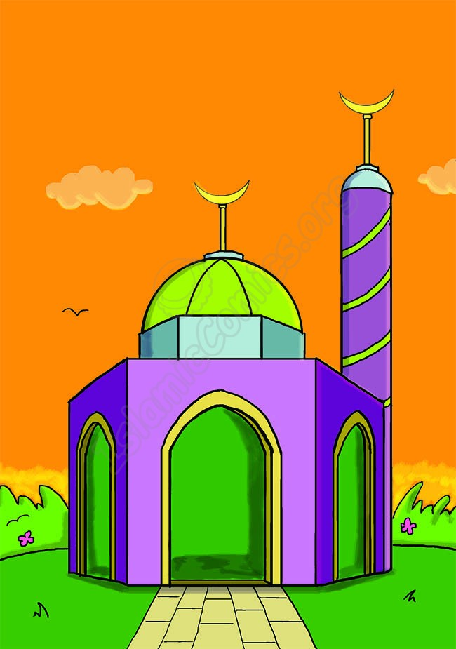 What a lovely masjid! (Islamic Illustrations)
