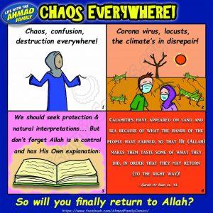Chaos has appeared on Land & Sea - Ahmad Family Comics