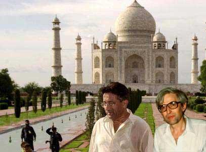 Witzel with Mussaraf at Taj