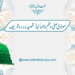 مولاي صلــــي وسلــــم دائمـــاً أبــــدا – قصیدہ بردہ شریف