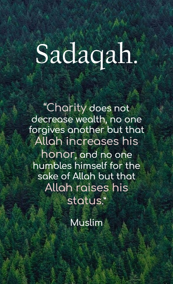 Sadaqah - Islamic Quotes in Englsih