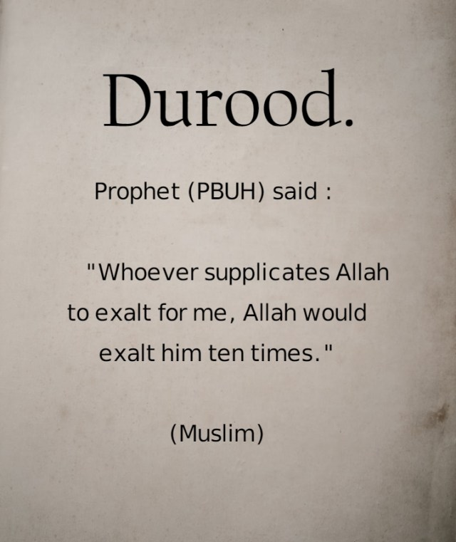 Durood - Islamic Quotes in Englsih