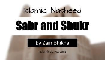 Sabr and Shukr - by Zain Bhikha