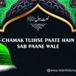 Chamak Tujhse Paate Hain Sab Paane Wale – Urdu Naat Lyrics