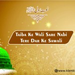 Shah-e-Madina Taiba Ke Wali Sare Nabi Tere Dar Ke Sawali