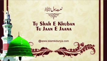 Tu Shah E Khuban Tu Jaan E Jaana - Naat Lyics in Urdu
