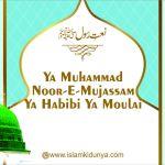 Ya Muhammad Noor-E-Mujassam Ya Habibi Ya Moulai
