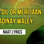 Mera Dil Or Meri Jaan Madinay Waley – Naat Lyrics in Urdu