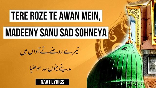Tere Roze Te Awan Mein - تیرے روضے تے آواں میں - Naat Lyrics