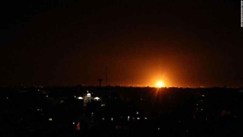 Israeli army strikes Gaza Strip after incendiary balloon fires