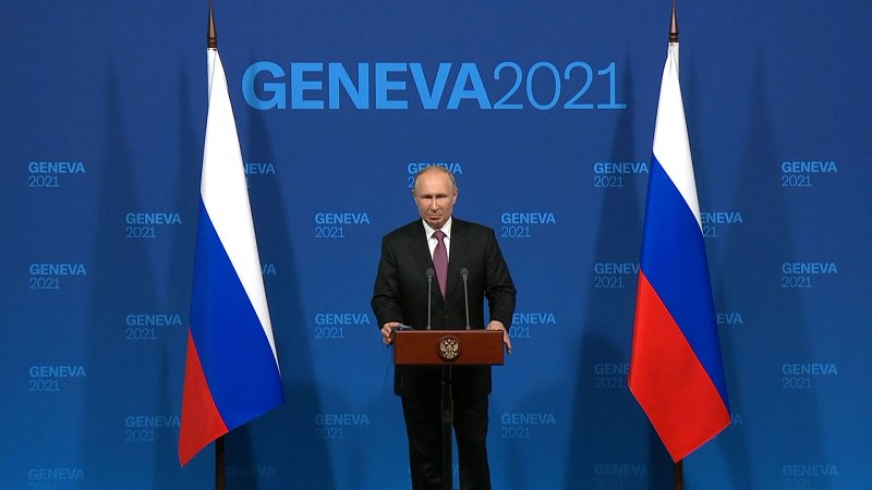 President Putin press conference after summit with Biden