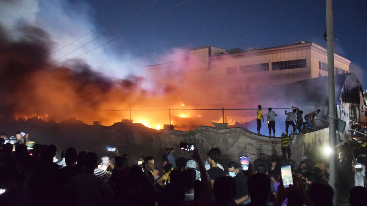 At Least 54 Dead After COVID Hospital in Iraq Catches Fire