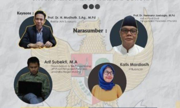 Webinar 75 Tahun Kelahiran Pancasila dan Launching Pusat Studi Pancasila dan Kebangsaan (PSPK) IAIN Surakarta