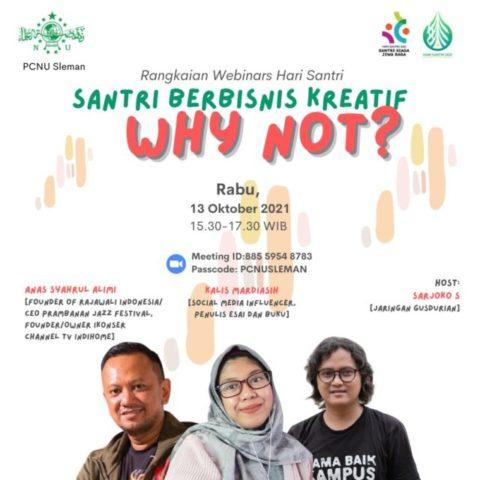 PCNU Sleman Dorong Para Santri untuk Aktif Kembangkan Bisnis Kreatif