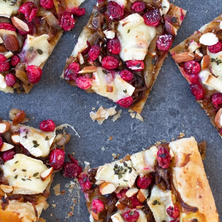 Caramelized Onion, Brie and Cranberry Pastry Bites