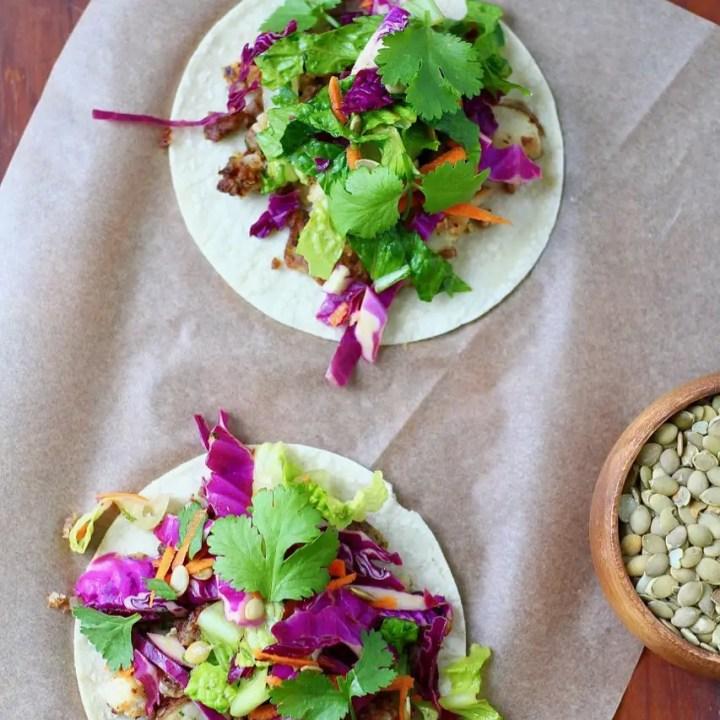 Chorizo and Potato Tacos with Super Crunch Salad