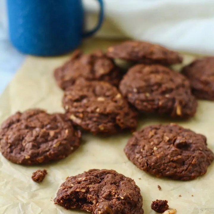 Double Chocolate Chip Coconut Cookies