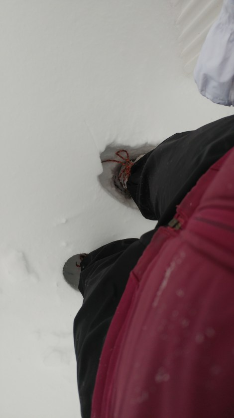 Snow up to the knees