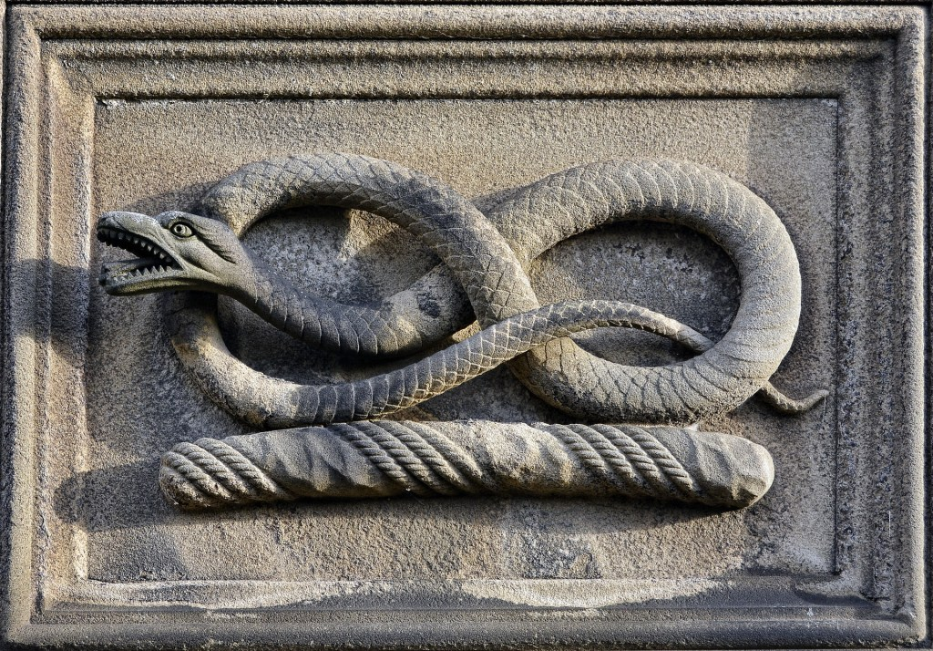 Photo: Snake sculpture