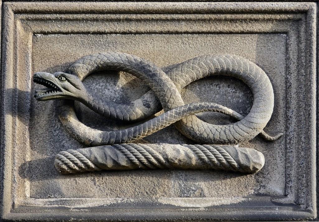 Photo: Snake sculpture