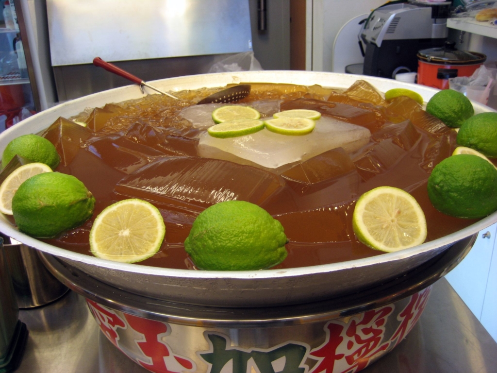 Photo: A large vat of Aiyu jelly