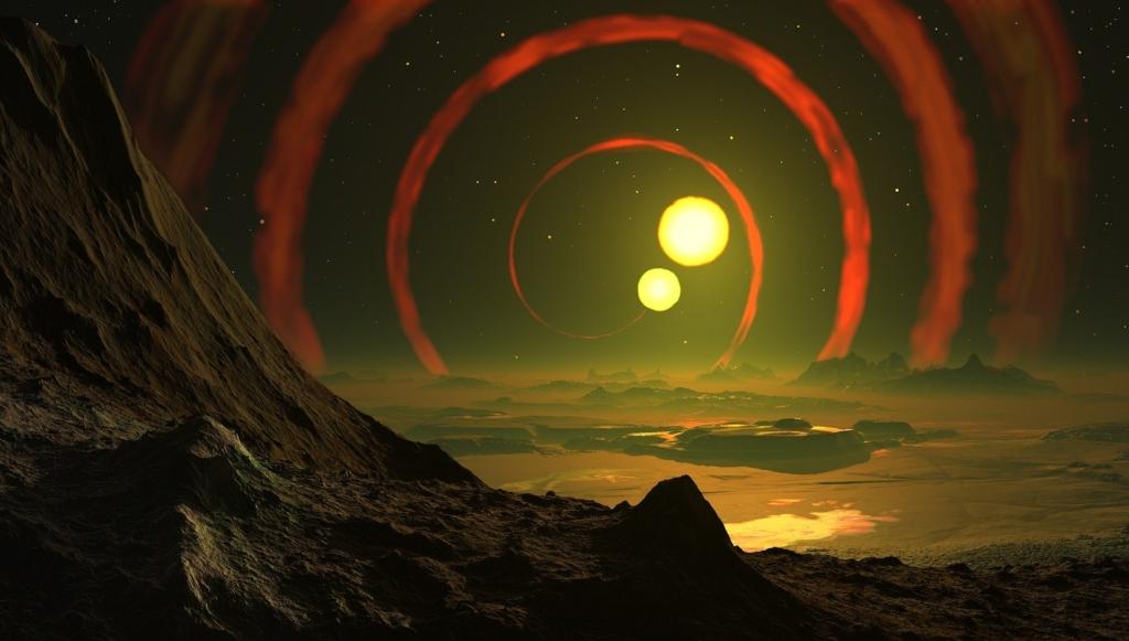Picture: Double sun over landscape