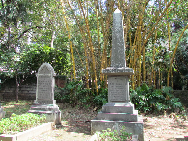 Graves of George Leslie and Minnie Mackay in today's Tamkang Senior High School