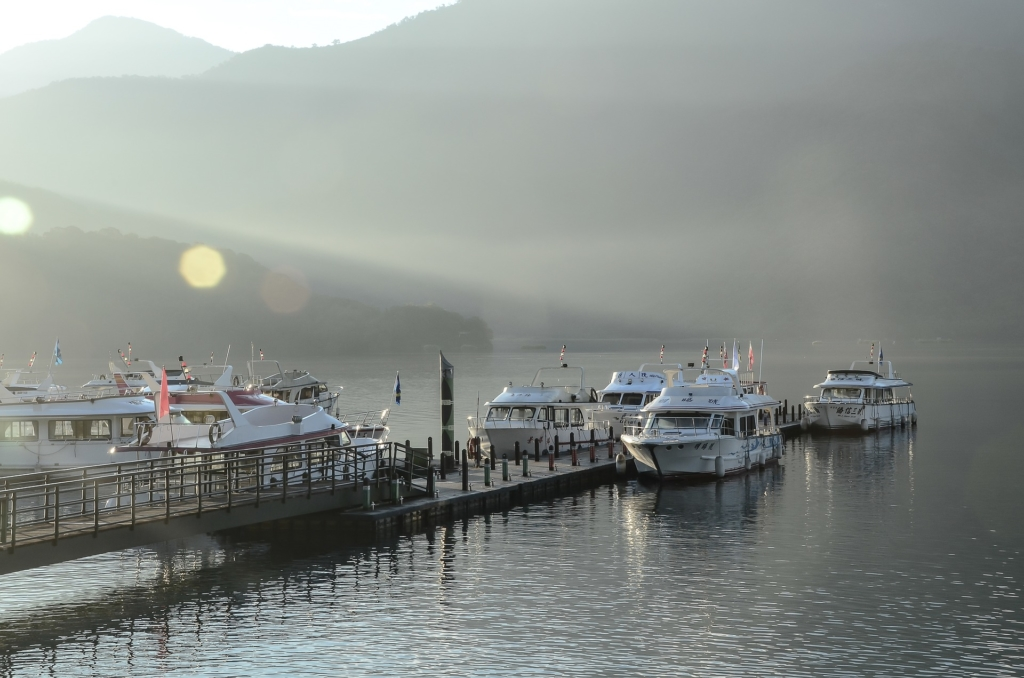 Photo: Yachts on Nantou, Taiwan's Sun Moon Lake