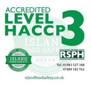 Level 3 Award in Understanding how to Develop a HACCP Plan course Newport Isle of Wight 19 March 2020