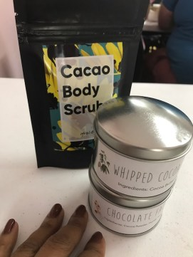 Goodies we made at the Healthy Benefits of Cocoa & Chocolate Workshop