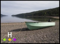 boat on the beach, pender island