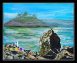 """Grimmer Bay "" (July 2014) 8"" x 10"" acrylic on canvas"