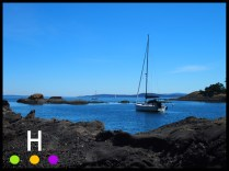 view from peter cove north, pender island