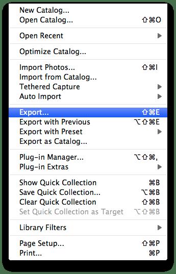 Export ...
