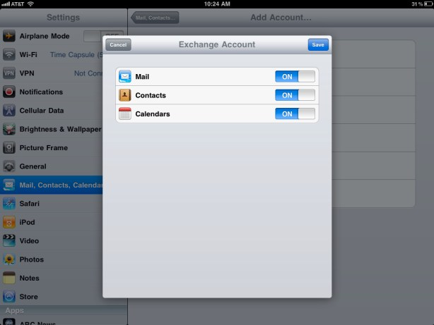 How to sync your iPad Mail, Calendar, & Contacts with Google Sync Google Sync 3