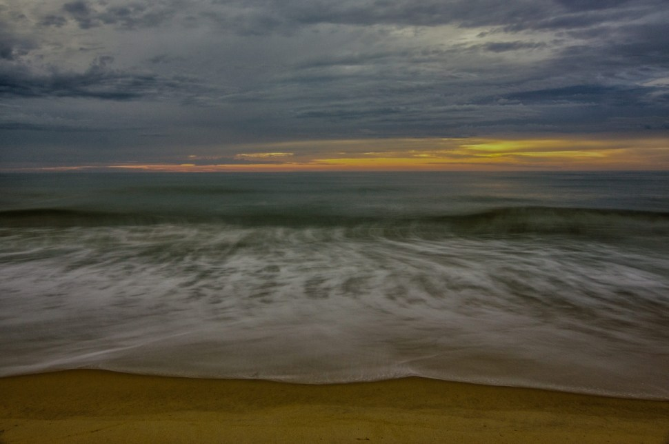 pier, sunrise, salvo, obx
