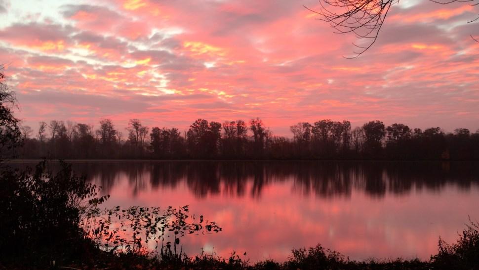 Sunset, Carnegie Lake