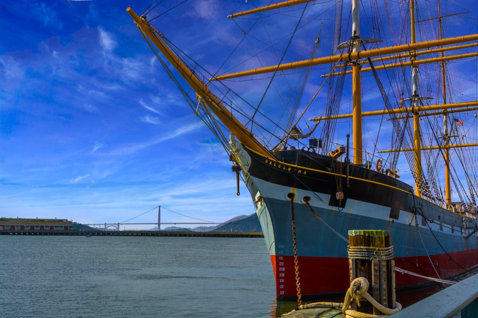 ship, sky, bridge, water, ABFriday, One Photo Focus