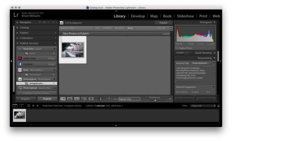 Adobe Lightroom, Publish Services