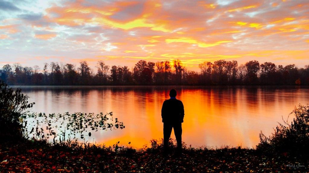 Self Portrait, Carnegie Lake