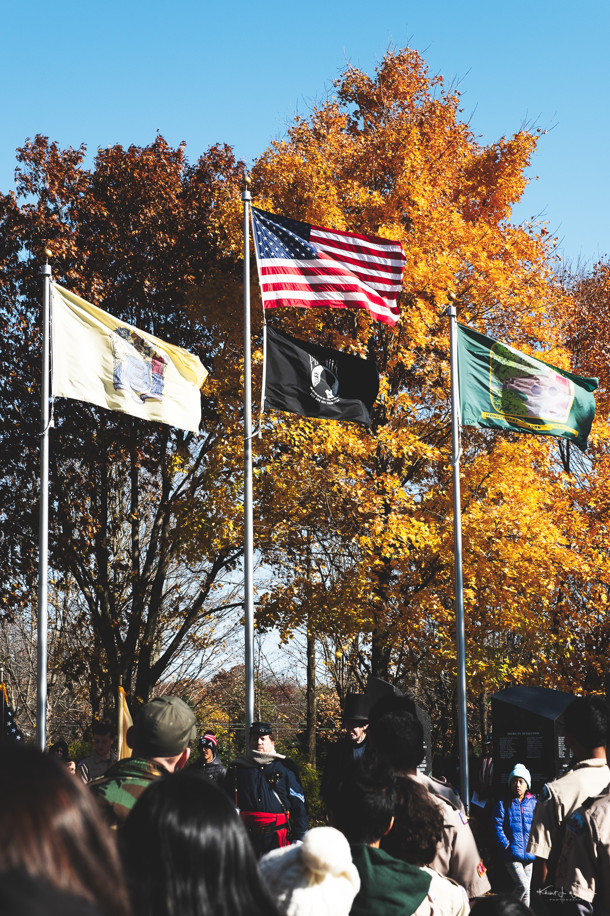 Veterans Day Observance at the Montgomery Township Veterans Memorial