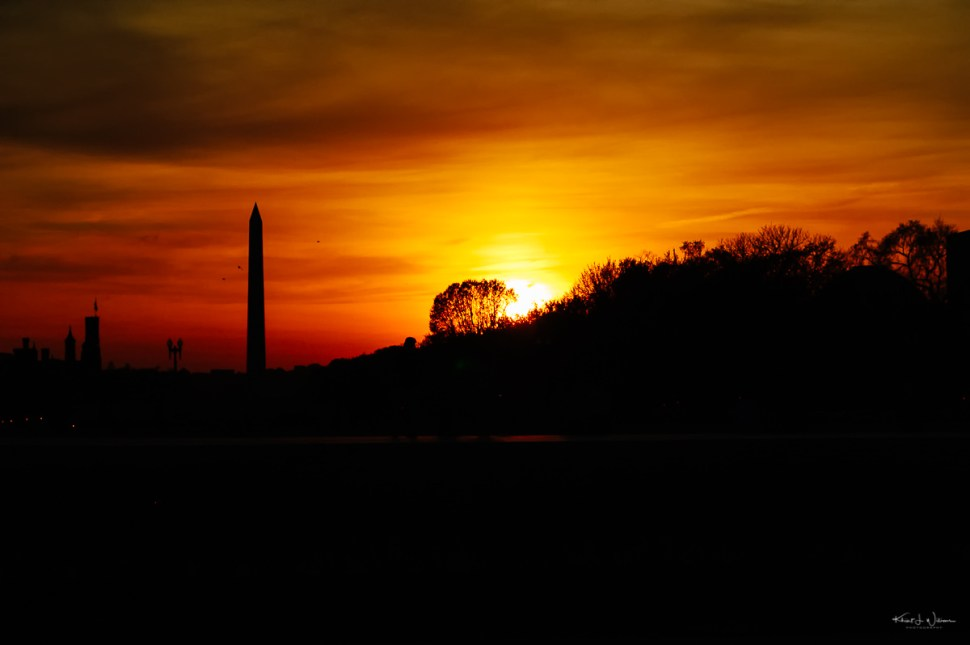 Sky, sunset, Washington D.C.