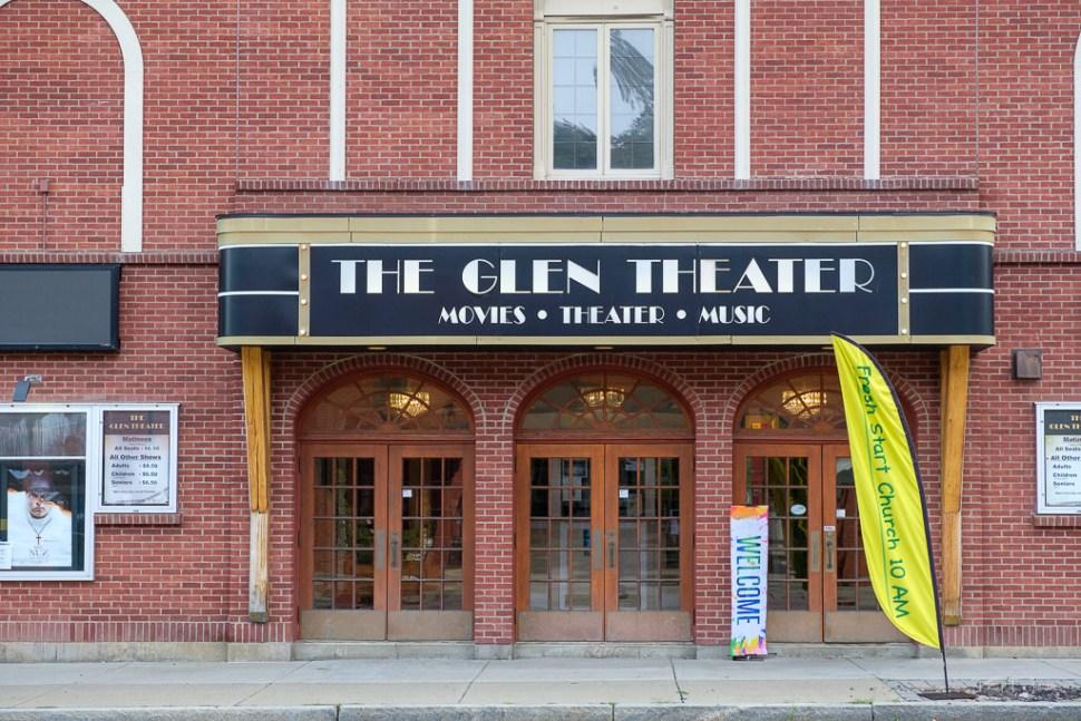 Front facia of the Glen Theatre in Watkins Glenn, New York