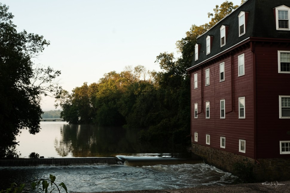 kingston mill house with millstone tributary