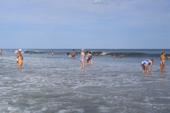 People Swimming on Avalon Beach