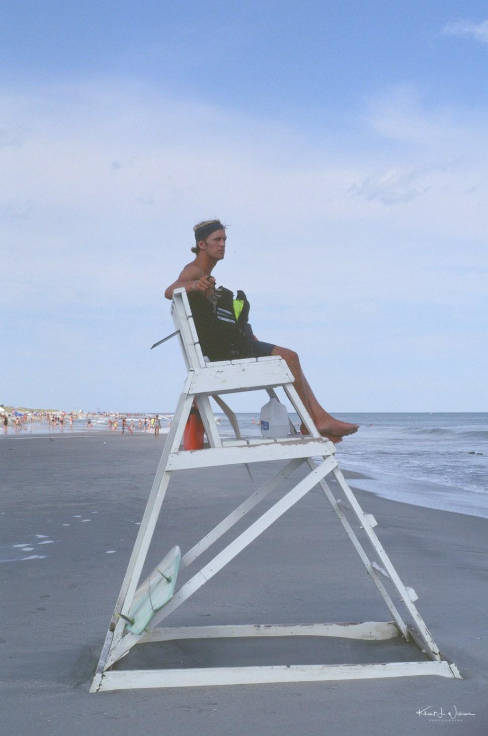 Life Guard on Avalon Beach