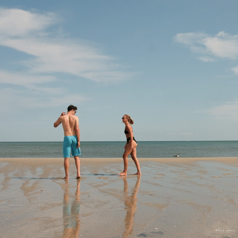 Couple Beach Scene